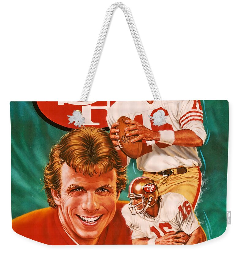 Sports Weekender Tote Bag featuring the photograph Joe Montana by Dick Bobnick