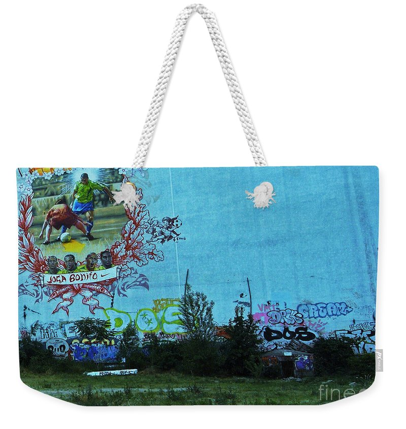 Football Weekender Tote Bag featuring the photograph Joga Bonito - The Beautiful Game by Andy Prendy