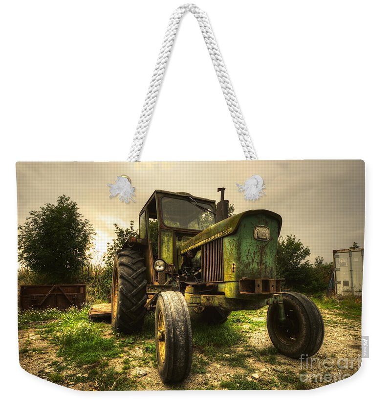 Tractor Weekender Tote Bag featuring the photograph Old Rusty by Rob Hawkins