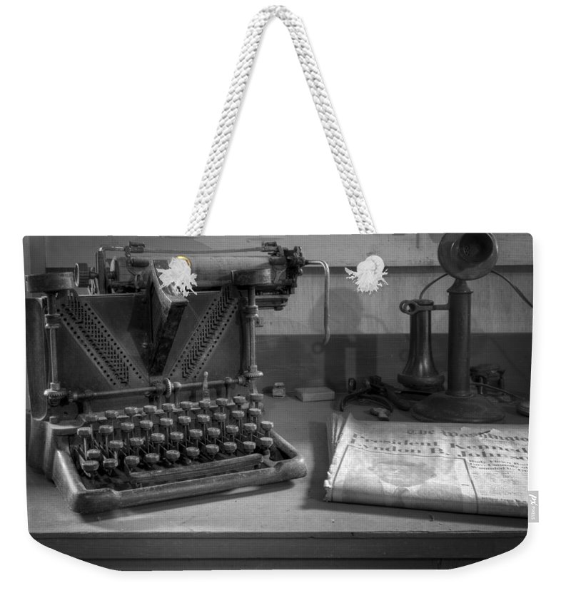 Kennedy Weekender Tote Bag featuring the photograph John F Kennedy by Debra and Dave Vanderlaan