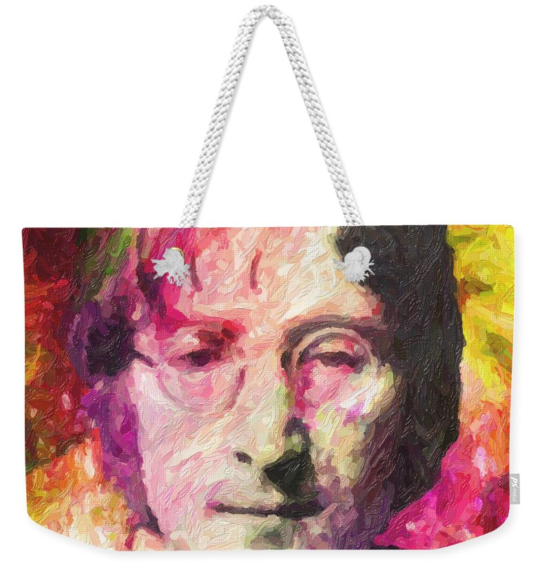 John Lennon Weekender Tote Bag featuring the painting John Lennon by Zapista OU