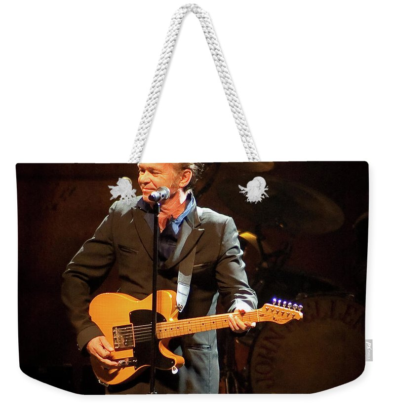 John Mellencamp Weekender Tote Bag featuring the photograph John Mellencamp 437 by Timothy Bischoff