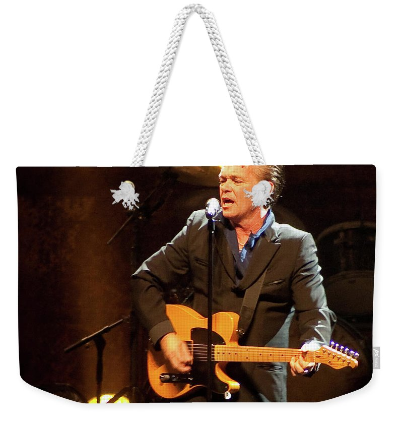 John Mellencamp Weekender Tote Bag featuring the photograph John Mellencamp 464 by Timothy Bischoff