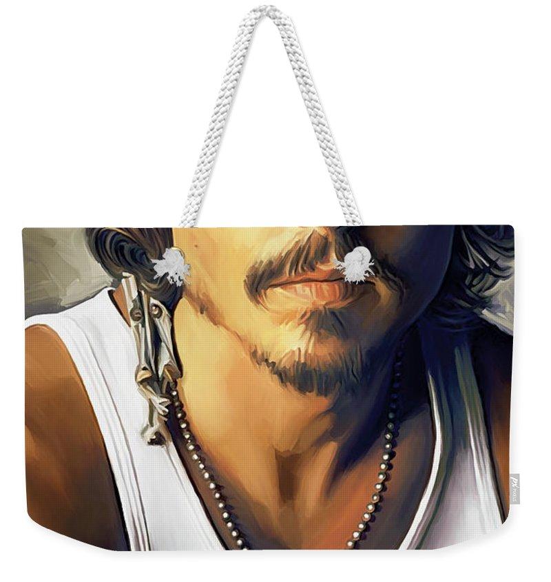 Johnny Depp Weekender Tote Bags