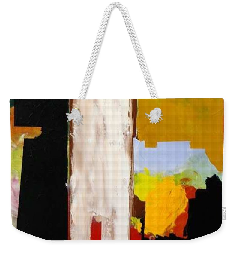 Landscape Weekender Tote Bag featuring the painting Jordan Park 511 by Allan P Friedlander