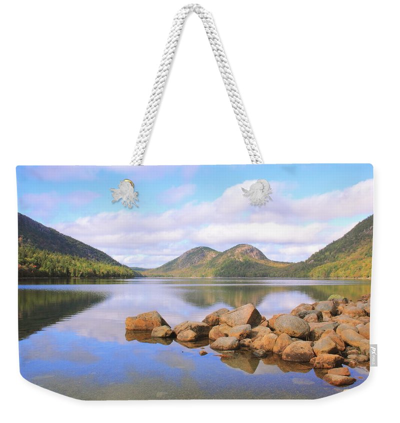 Jordan Pond Weekender Tote Bag featuring the photograph Jordan Pond by Roupen Baker