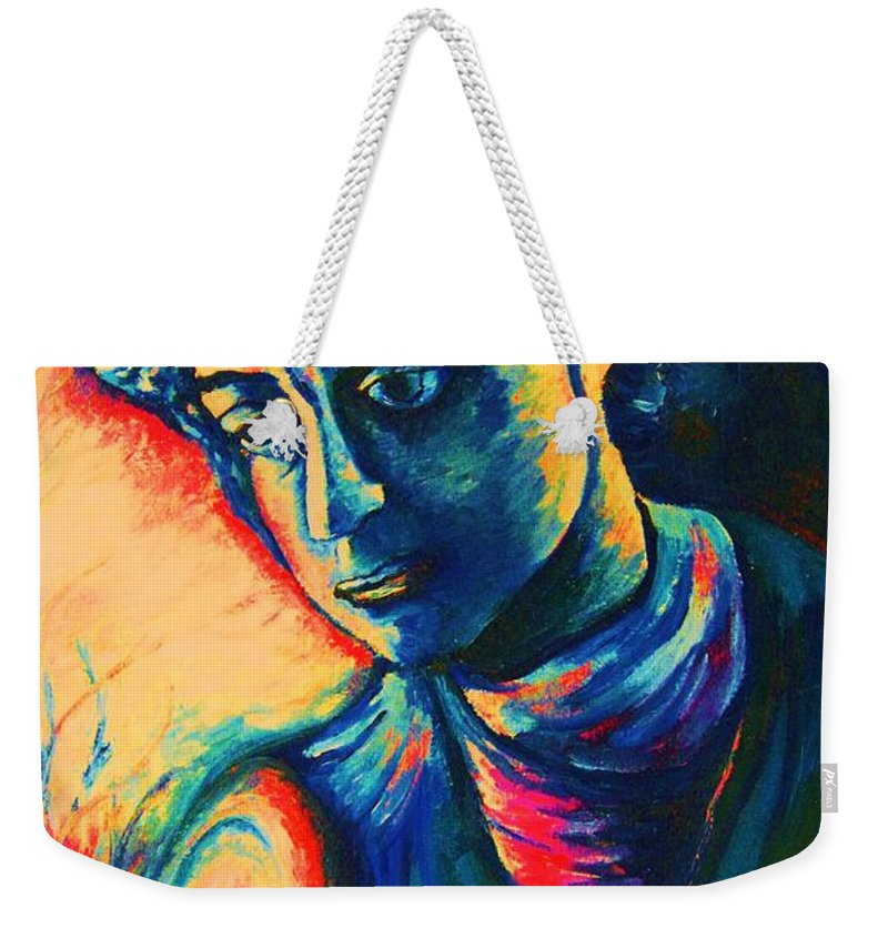 Joseph From The Bible Weekender Tote Bag featuring the painting Joseph The Dreamer by Carole Spandau