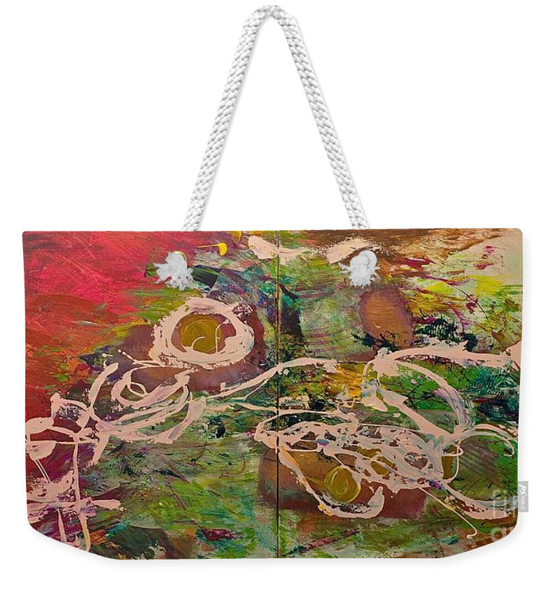 Landscape Weekender Tote Bag featuring the painting Journey Forth by Allan P Friedlander