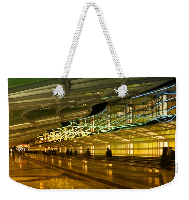 Light Weekender Tote Bag featuring the photograph Journey Of Light by Miguel Winterpacht