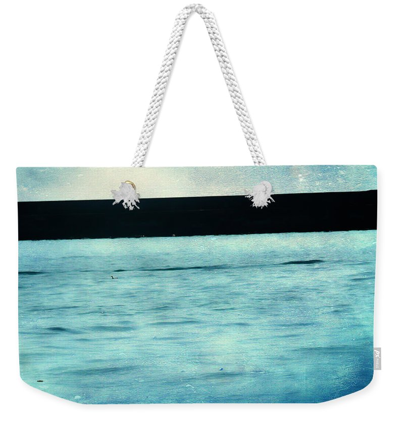 Ocean Weekender Tote Bag featuring the photograph Journeys Direct by The Artist Project