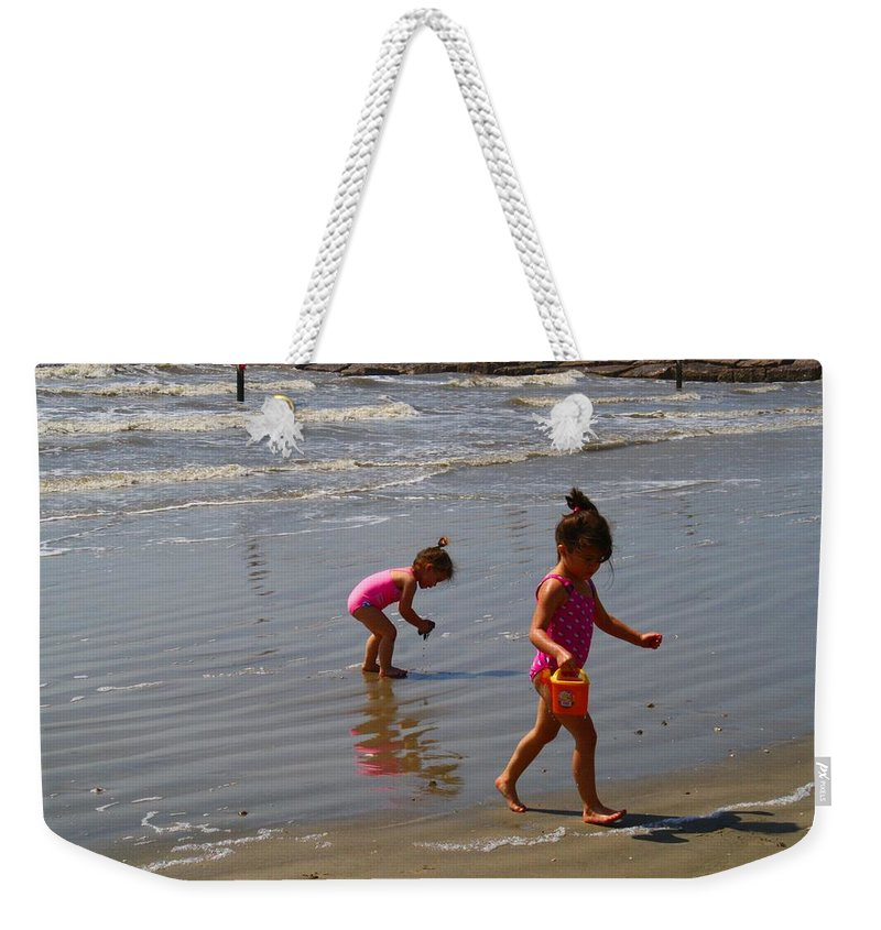 Beach Weekender Tote Bag featuring the photograph Joyful by Kathryn Meyer