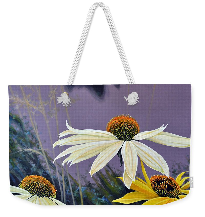 Botanical Weekender Tote Bag featuring the painting Jubilant by Hunter Jay