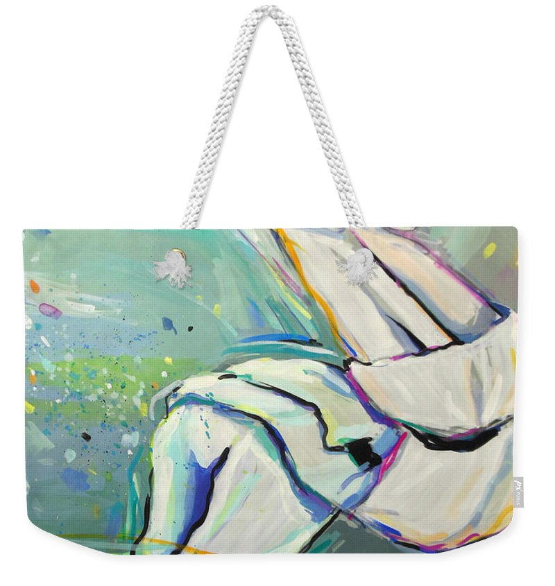 Judo Weekender Tote Bag featuring the painting Judo by Lucia Hoogervorst
