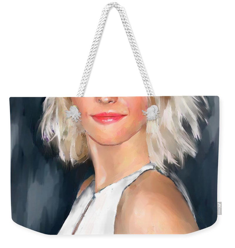 Figure Weekender Tote Bag featuring the painting Julianne Hough by Scott Bowlinger