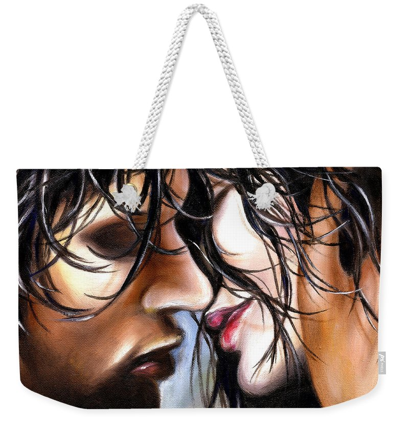 Lovers Weekender Tote Bag featuring the painting June Breeze by Hiroko Sakai