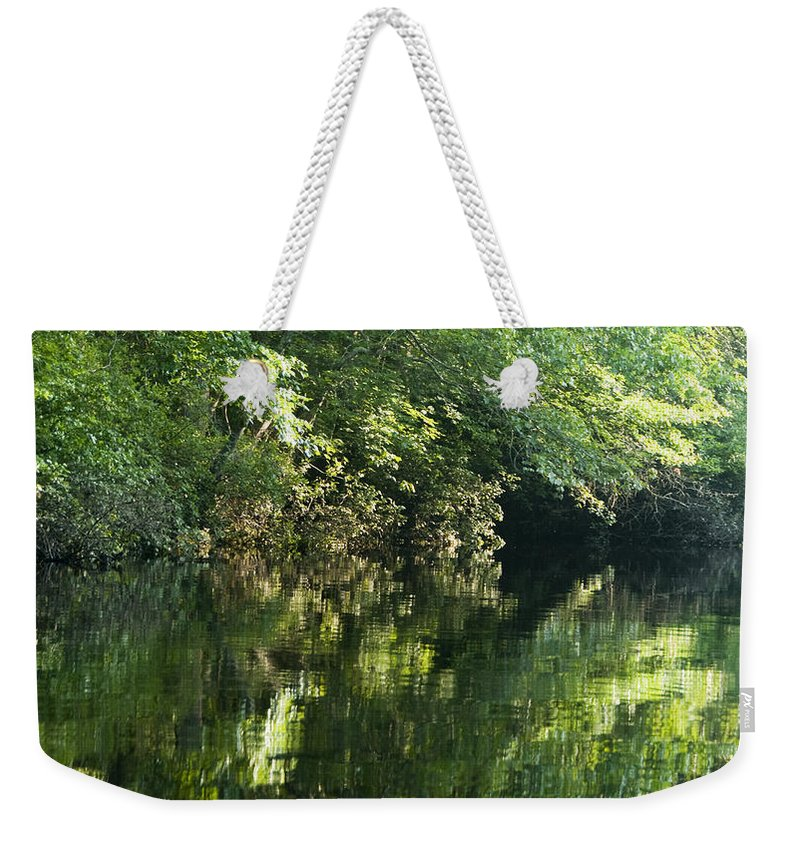 Photography Weekender Tote Bag featuring the photograph June Morning On The Pawcatuck by Steven Natanson