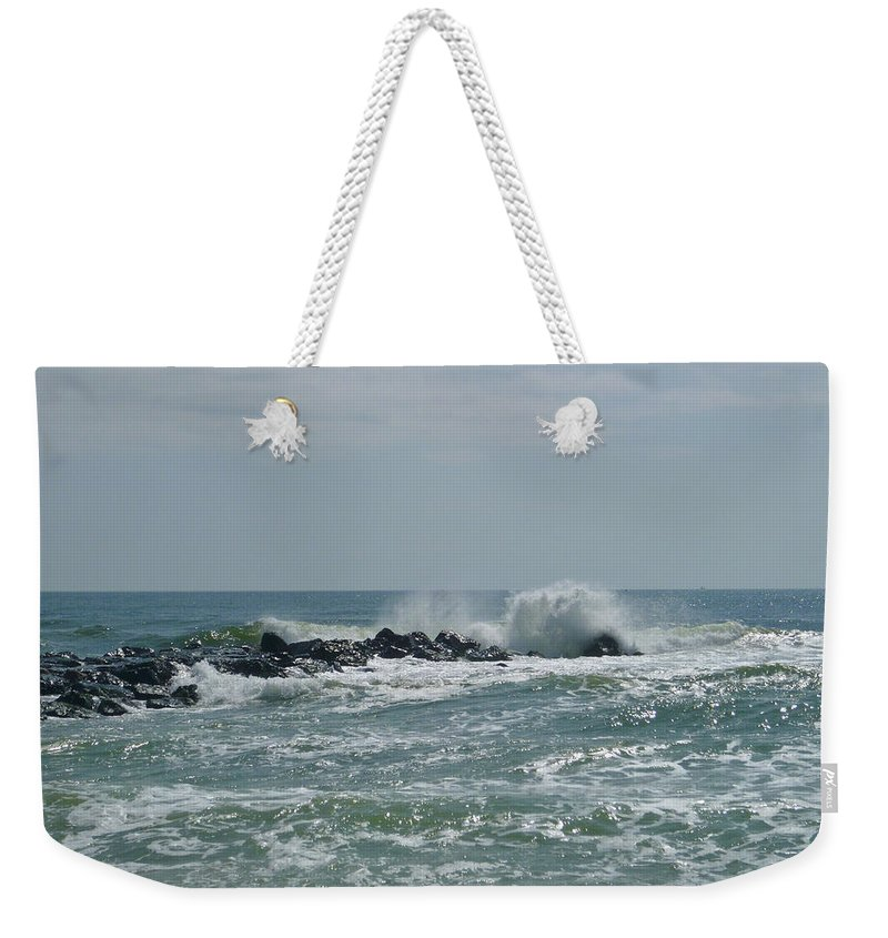 Surf Weekender Tote Bag featuring the photograph June Surf by Ellen Paull