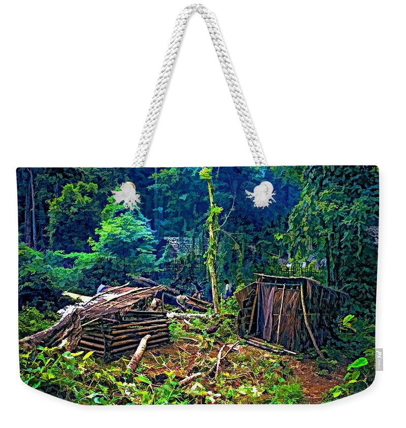 Jungle Weekender Tote Bag featuring the photograph Jungle Homestead by Steve Harrington