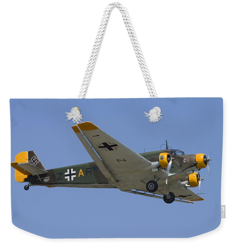 3scape Weekender Tote Bag featuring the photograph Junkers Ju-52 by Adam Romanowicz
