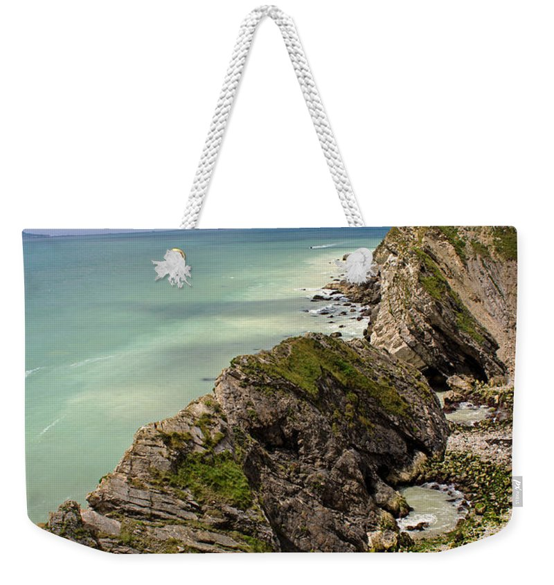 Lulworth Cove Weekender Tote Bag featuring the photograph Jurassic Coast From Lulworth Cove by Tony Murtagh