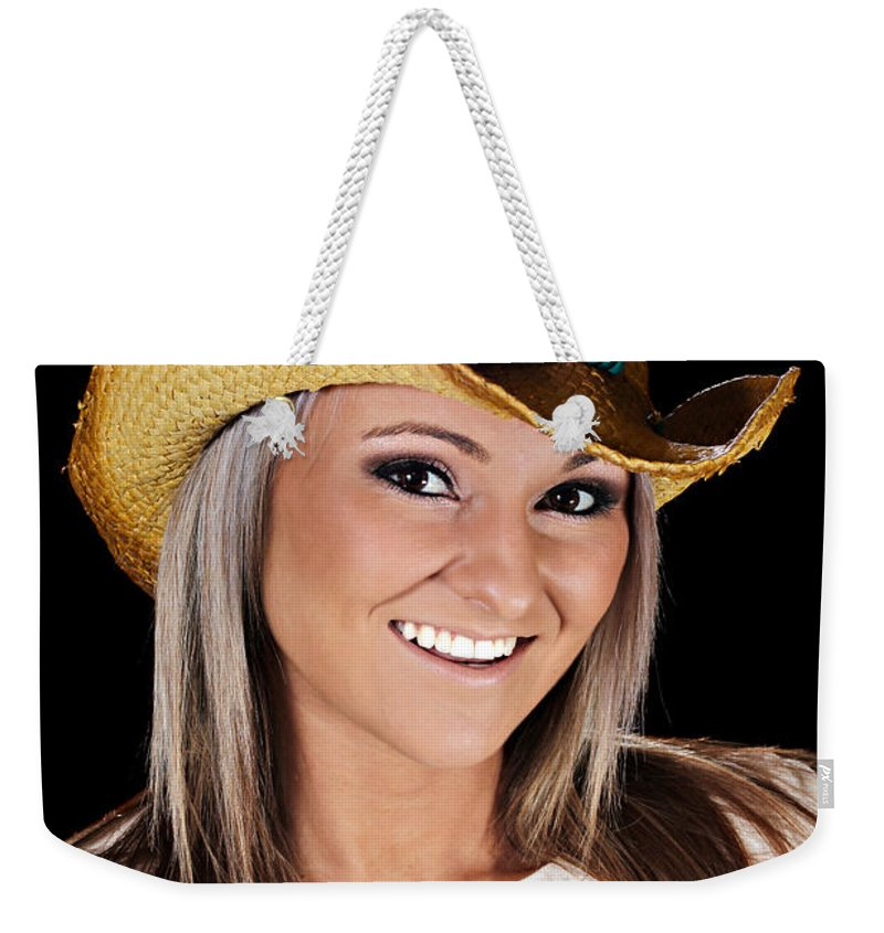 Closeup Weekender Tote Bag featuring the photograph Just A Country Girl by Paul Fell