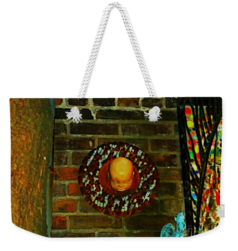 Weekender Tote Bag featuring the photograph Just A Lil Twisted by Kelly Awad