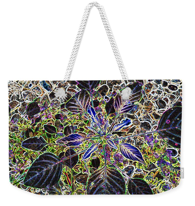 Weed Weekender Tote Bag featuring the digital art Just a Weed					 by Lovina Wright