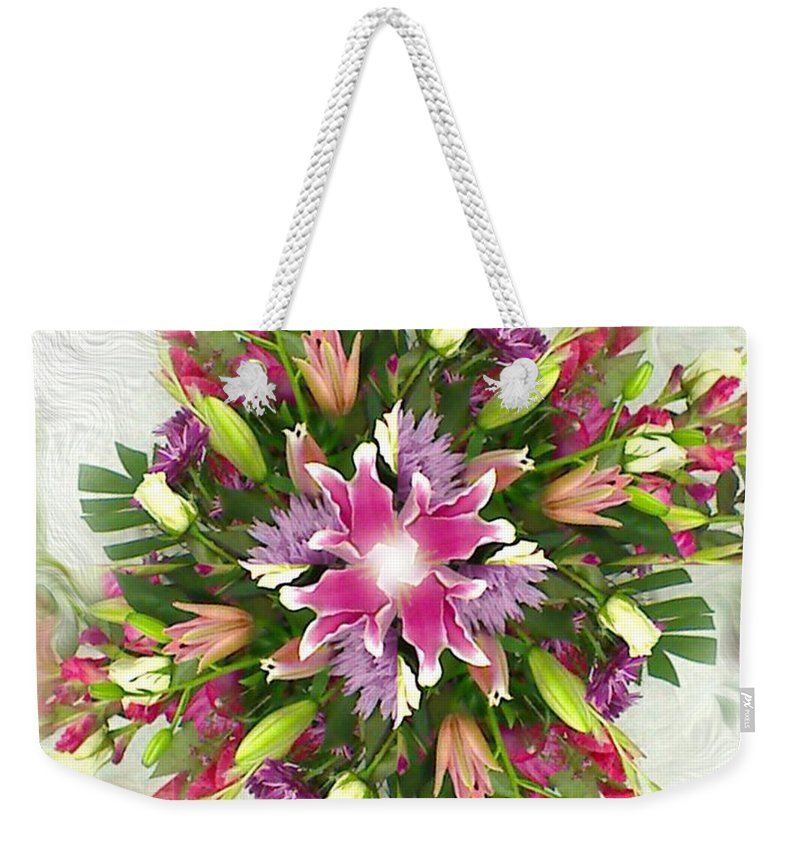 Floral Weekender Tote Bag featuring the digital art Old Fashion by Dana Haynes
