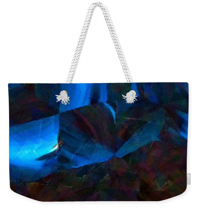 Abstract Weekender Tote Bag featuring the painting Just Another Night In The Bunker by RC DeWinter