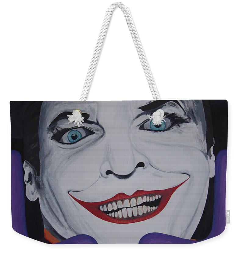 Colorful Weekender Tote Bag featuring the painting Just Jack by Dean Stephens