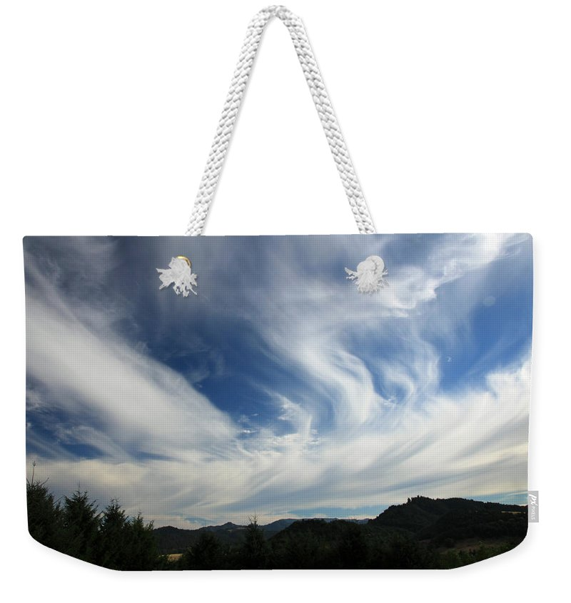 July Weekender Tote Bag featuring the photograph Just Me And The Sky by Katie Wing Vigil
