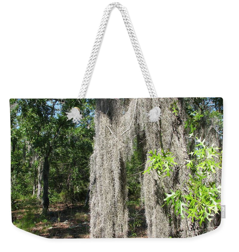Patzer Weekender Tote Bag featuring the photograph Just The Backyard by Greg Patzer
