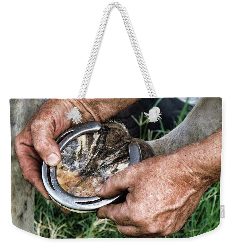 Horse Weekender Tote Bag featuring the photograph Just The Right Fit by Shannon Story