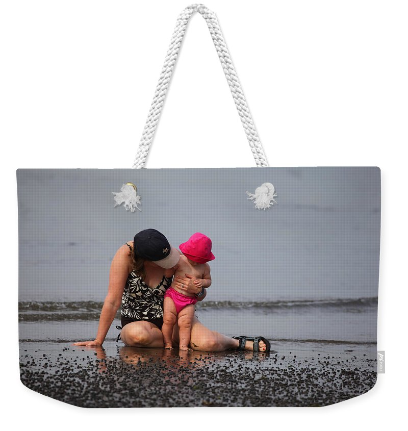 Mother And Daughter Weekender Tote Bag featuring the photograph Just You And I by Karol Livote