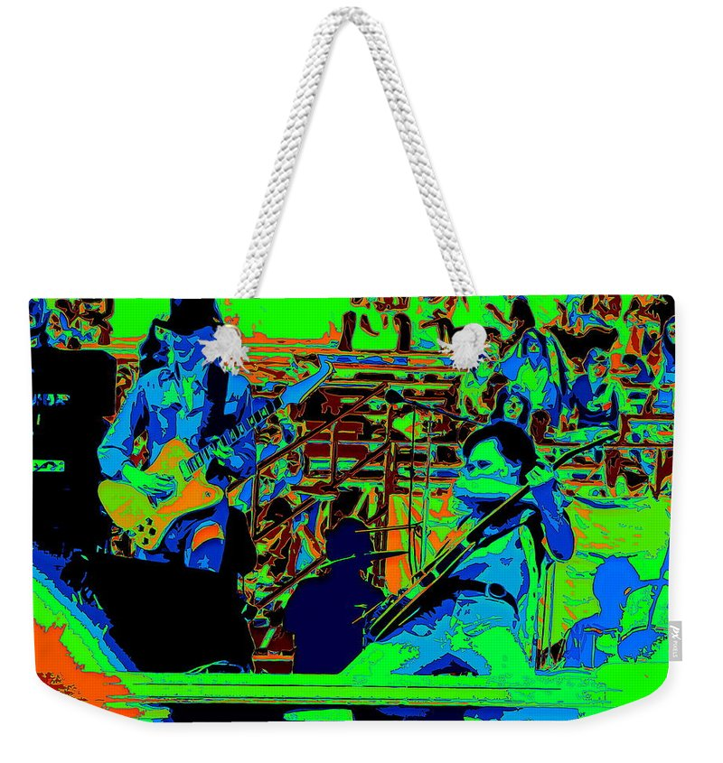 Johnny Winter Weekender Tote Bag featuring the photograph Jwinter #9 Enhanced Colors 1 by Ben Upham