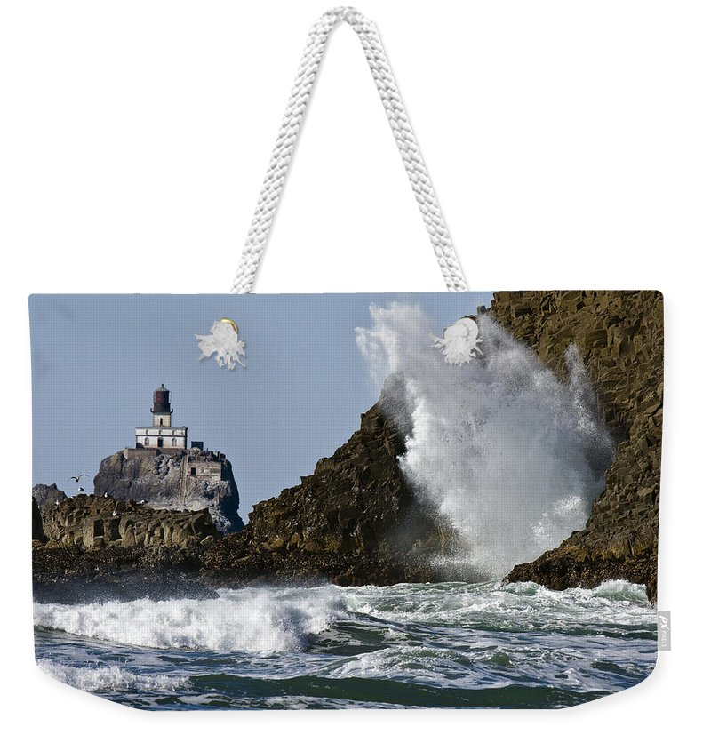 Kaboom Weekender Tote Bag featuring the photograph Kaboom by Wes and Dotty Weber