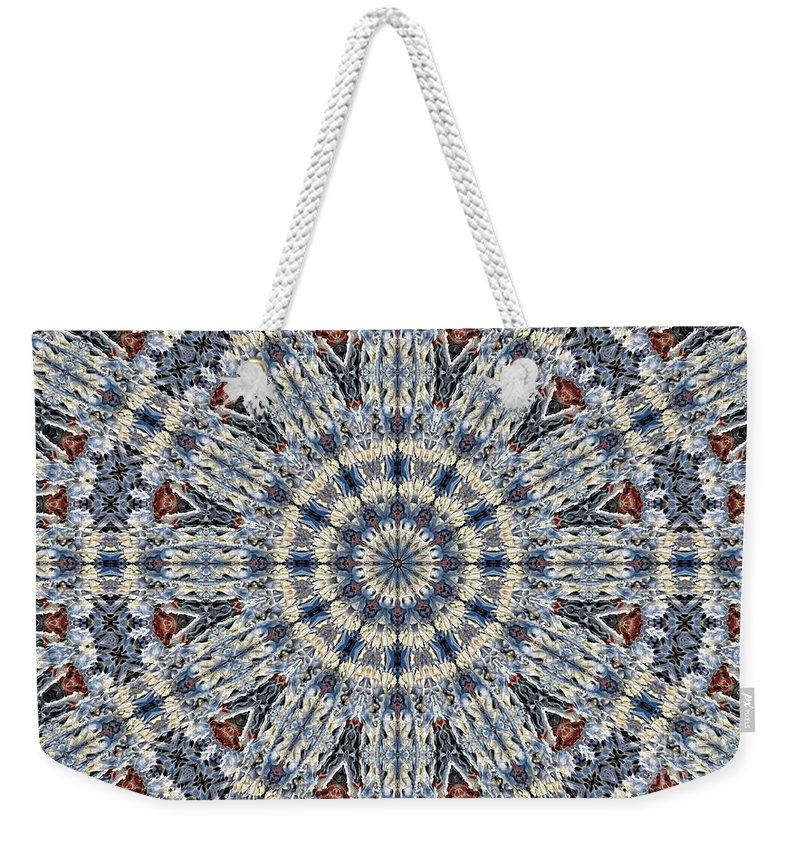 Kaleidoscope Weekender Tote Bag featuring the digital art Kaleidoscope 29 by Ron Bissett
