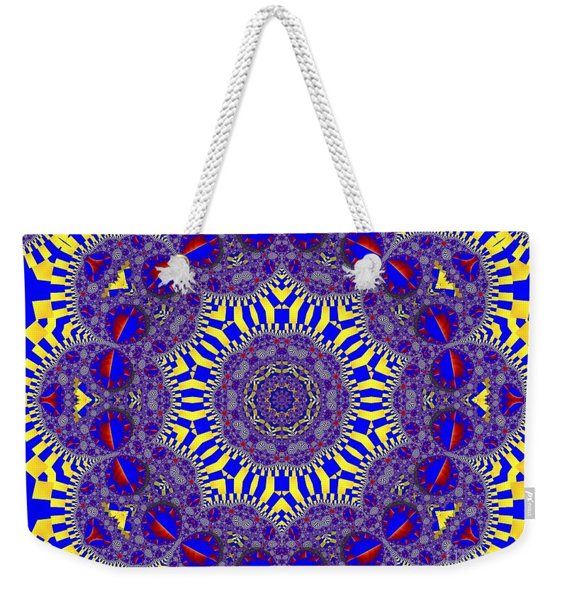 Kaleidoscope Weekender Tote Bag featuring the photograph Kaleidoscope 33 by Ron Bissett