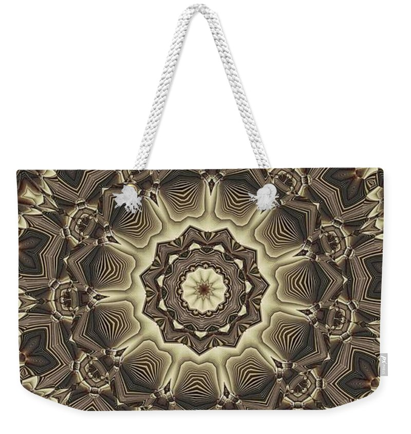Kaleidoscope Weekender Tote Bag featuring the digital art Kaleidoscope 66 by Ron Bissett