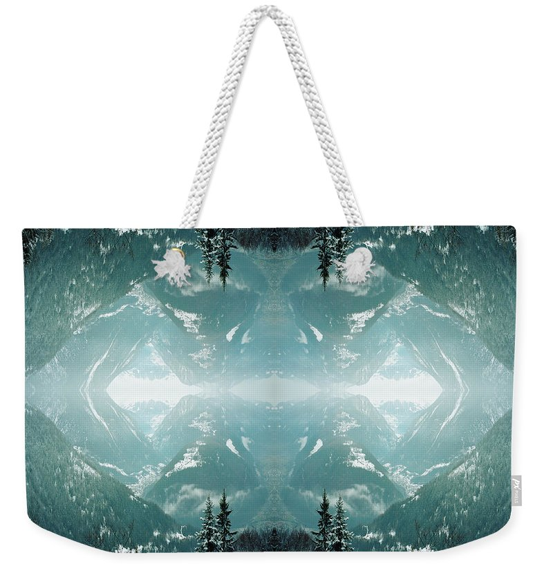Scenics Weekender Tote Bag featuring the photograph Kaleidoscope Snowy Trees In Mountains by Silvia Otte
