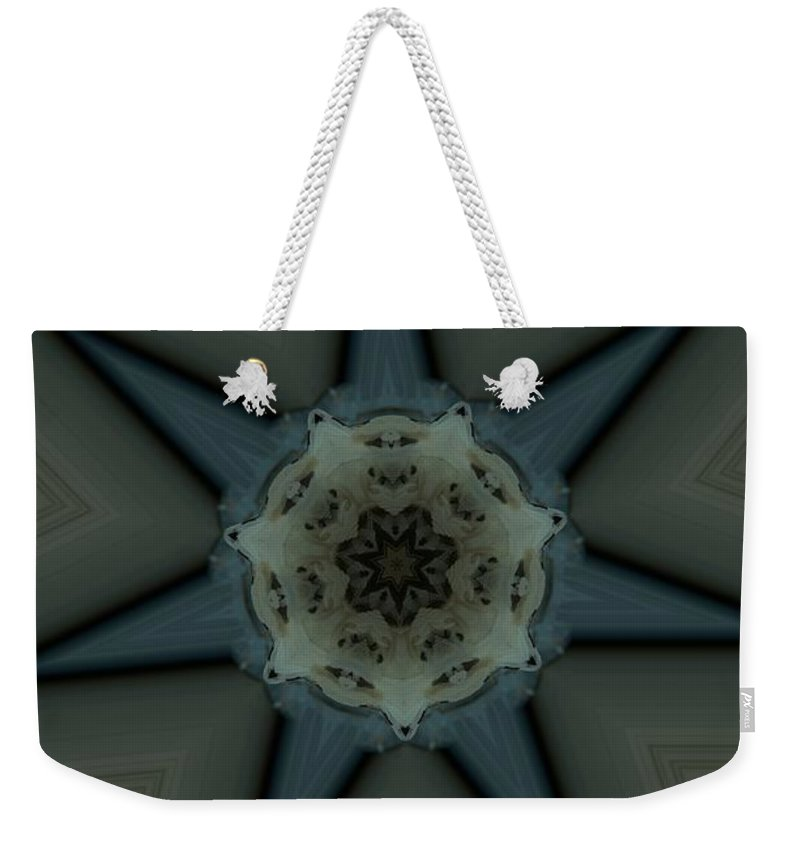 Kaleidoscope Weekender Tote Bag featuring the photograph Kaleidoscope Star by Donna Brown