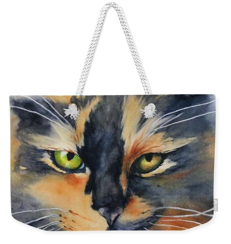 Painting Weekender Tote Bag featuring the painting Kali by Glenyse Henschel