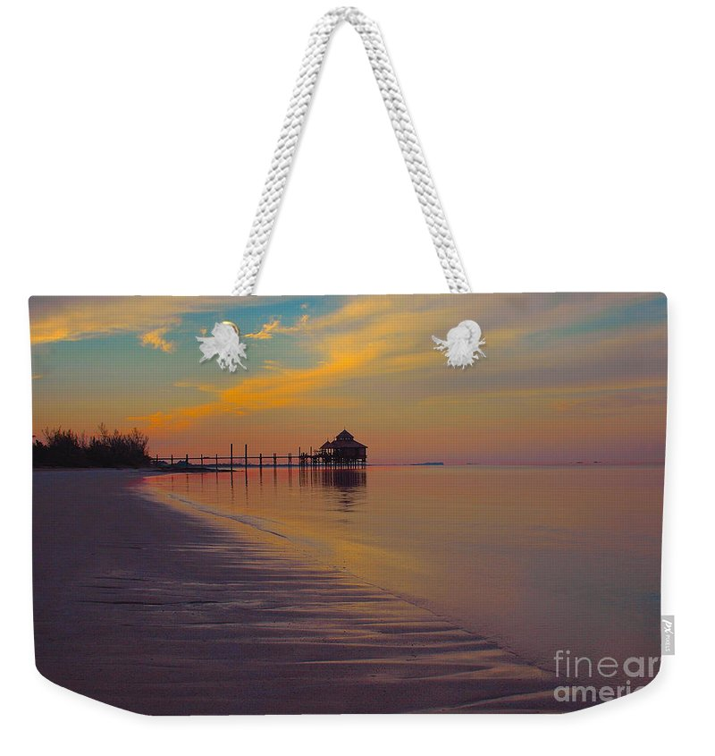 Kamalame Cay Weekender Tote Bag featuring the photograph Kamalame Beach by Carey Chen
