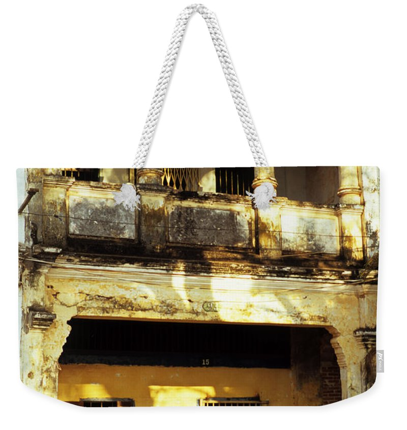 Cambodia Weekender Tote Bag featuring the photograph Kampot Old Colonial 05 by Rick Piper Photography