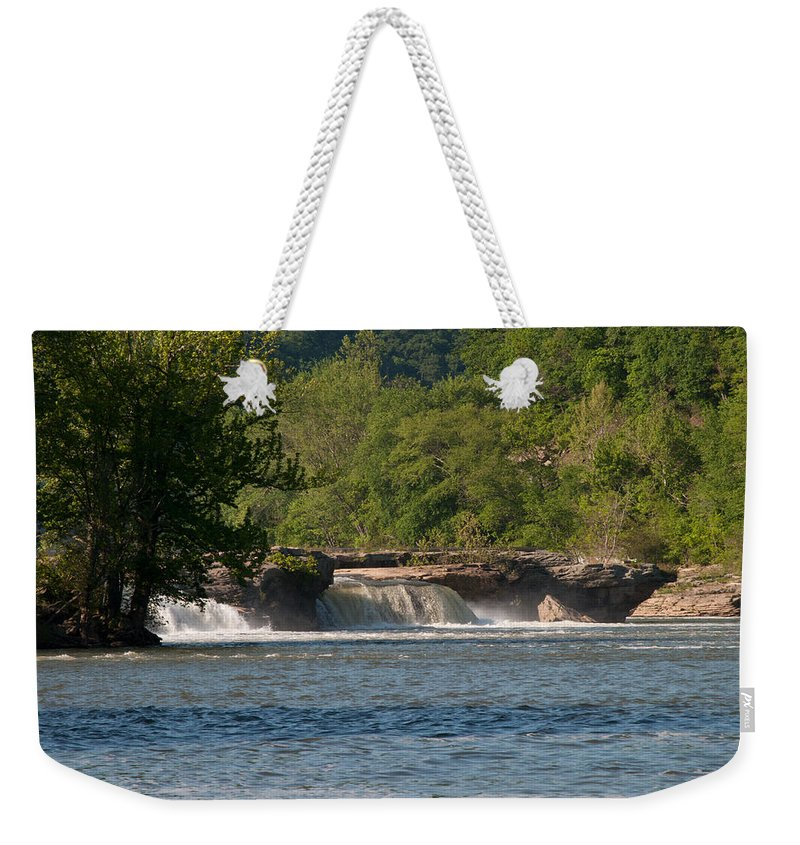 Interior Design Weekender Tote Bag featuring the photograph Kanawha Falls II - Spring by Paulette B Wright