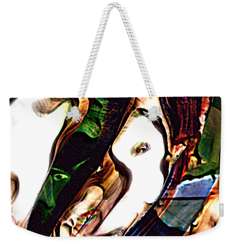 Abstract Weekender Tote Bag featuring the digital art Kao by Richard Thomas