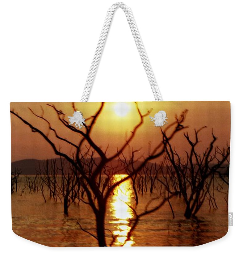 Sunset Weekender Tote Bag featuring the photograph Kariba Sunset by Jeremy Hayden