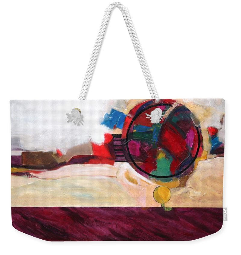Abstract Weekender Tote Bag featuring the painting Karma by Marlene Burns