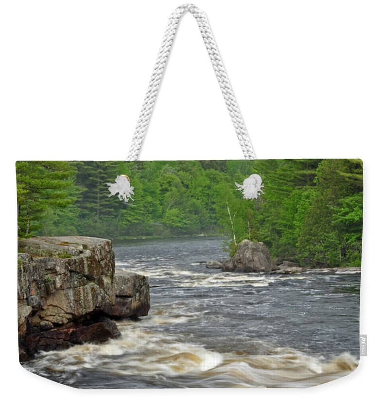 Crib Works Weekender Tote Bag featuring the photograph Katahdin And Penobscot River by Glenn Gordon