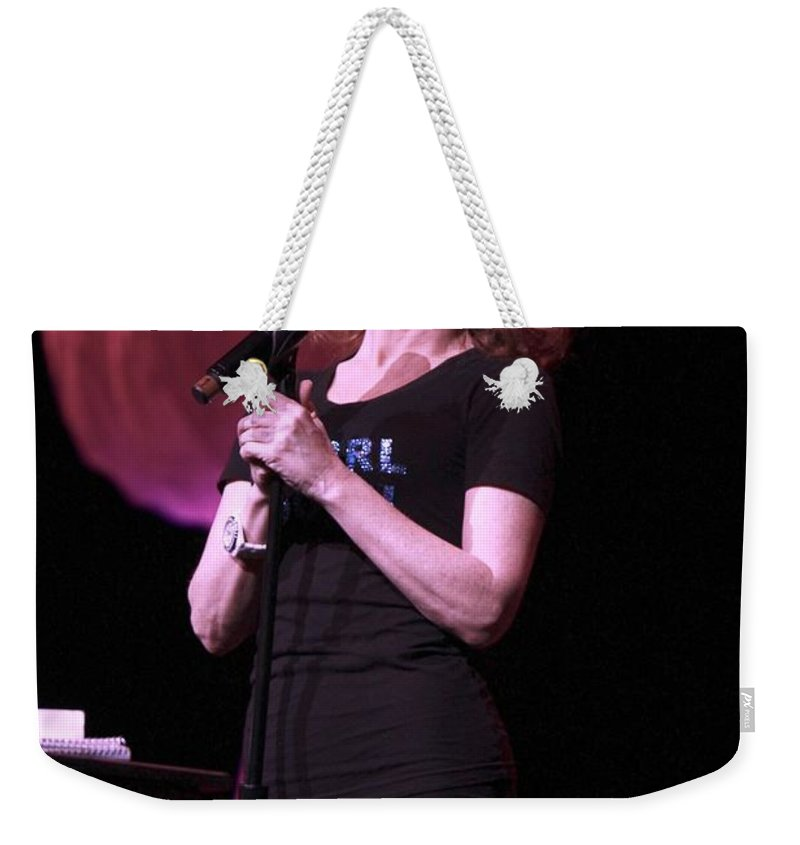 Comedy Weekender Tote Bag featuring the photograph Kathy Griffen by Concert Photos